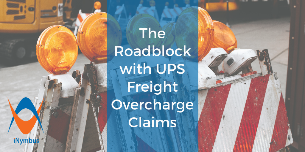 The Roadblock with UPS Freight Overcharge Claims Blog Header 1024 x 512 - Oct 2018