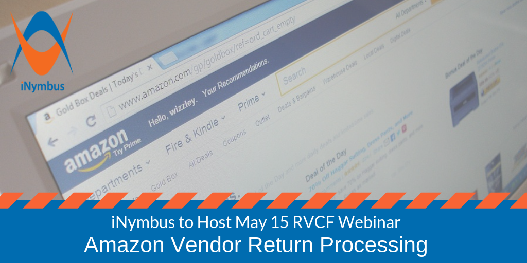 iNymbus Webinar Amazon Vendor Return Processing Header 1024 x 512 - April 2019