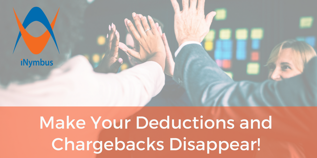 iNymbus Blog Header Make Your Deductions and Chargebacks Disappear 1024 x 512 - July 2018